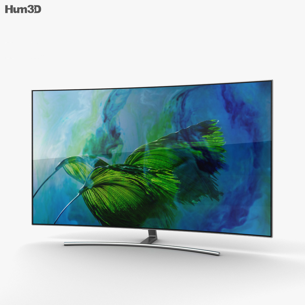Samsung 55″ Class Q8C Curved QLED 4K TV 3d model