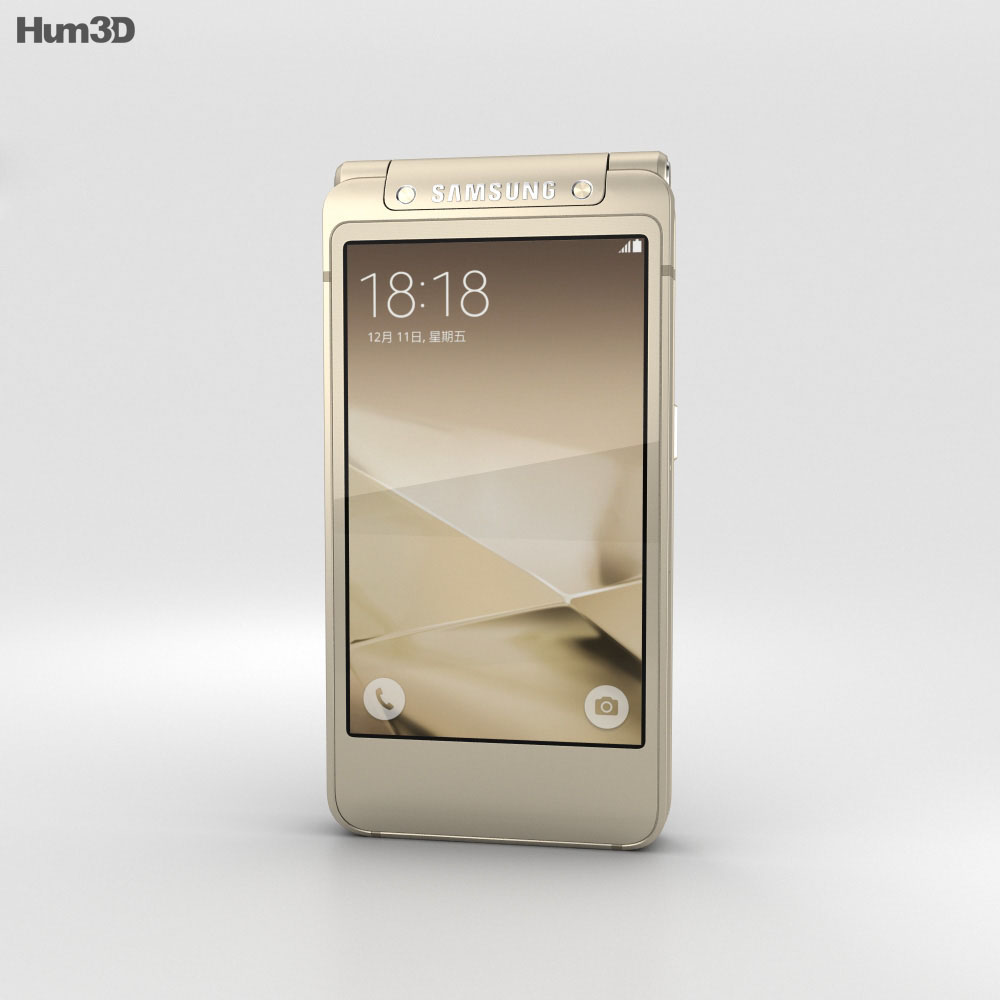 Samsung W2016 Gold 3d model