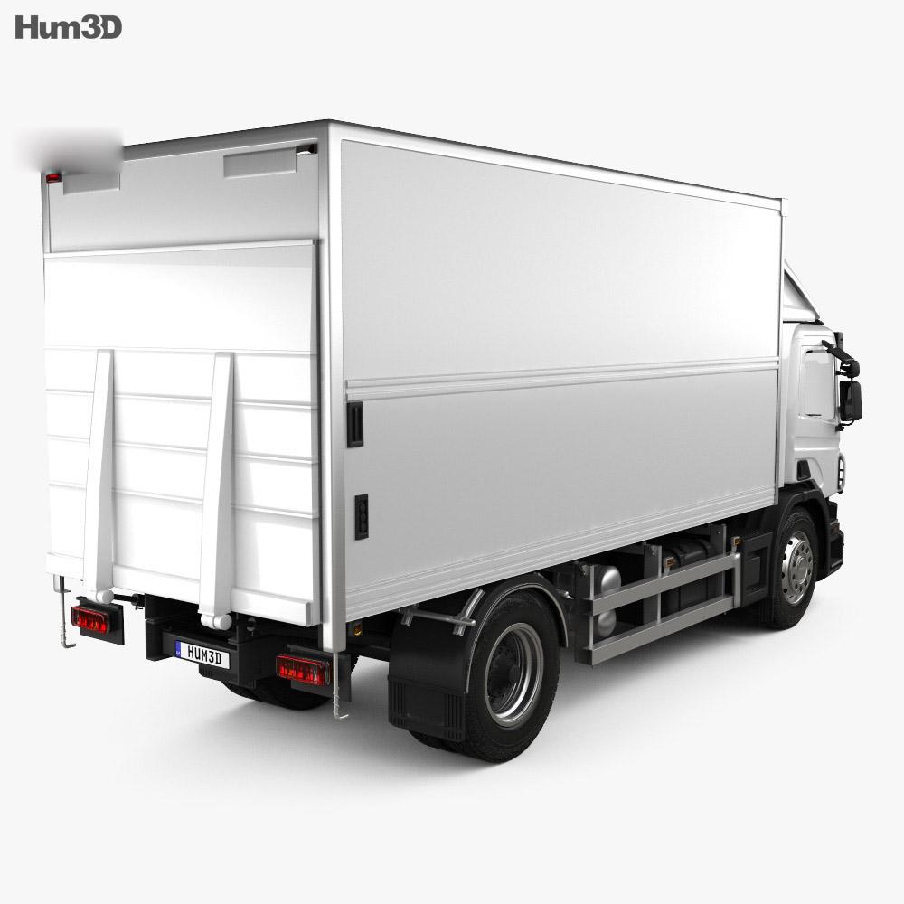 Scania P Box 2011 3d model