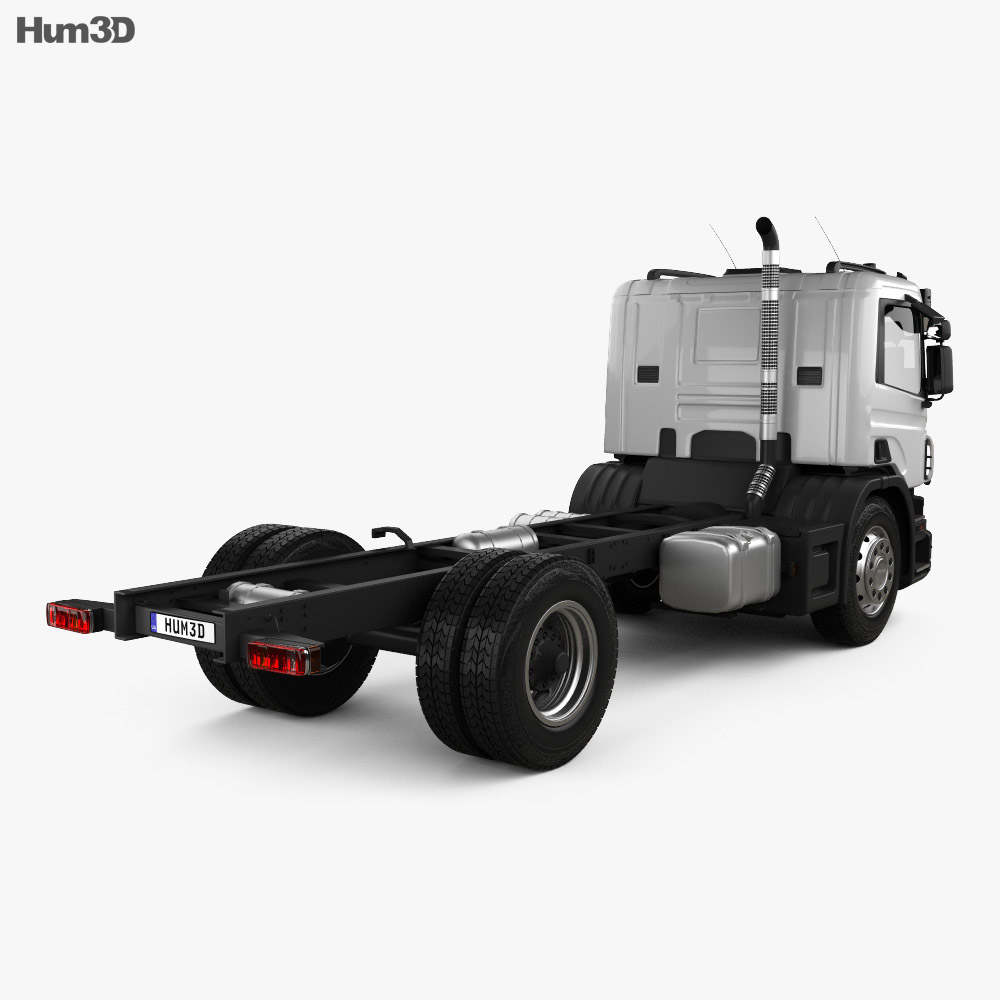 Scania P Chassis 2011 3d model