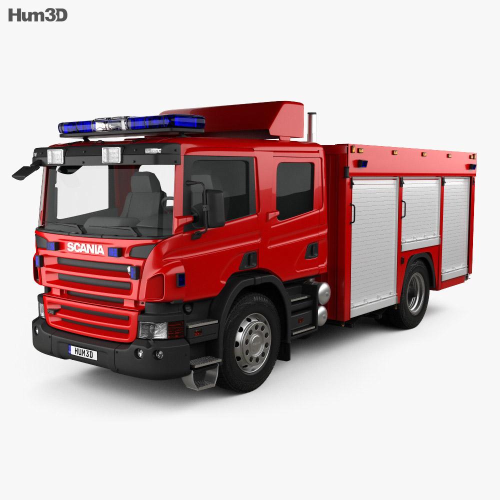 Scania P Fire Truck 2011 3d model