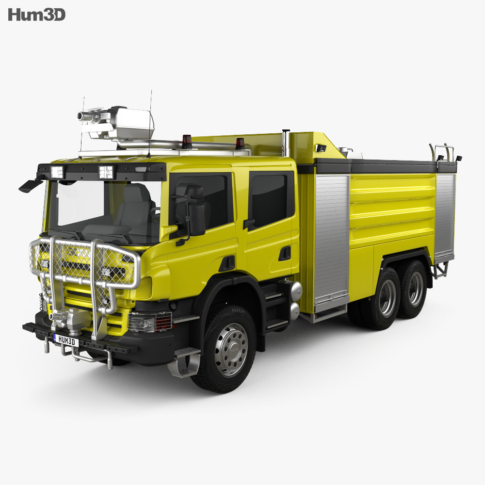 Scania P Fire Truck Airport 2011 3d model
