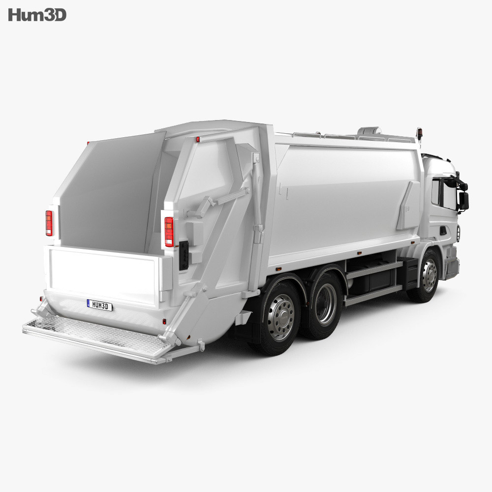 Scania P Garbage 2011 3d model