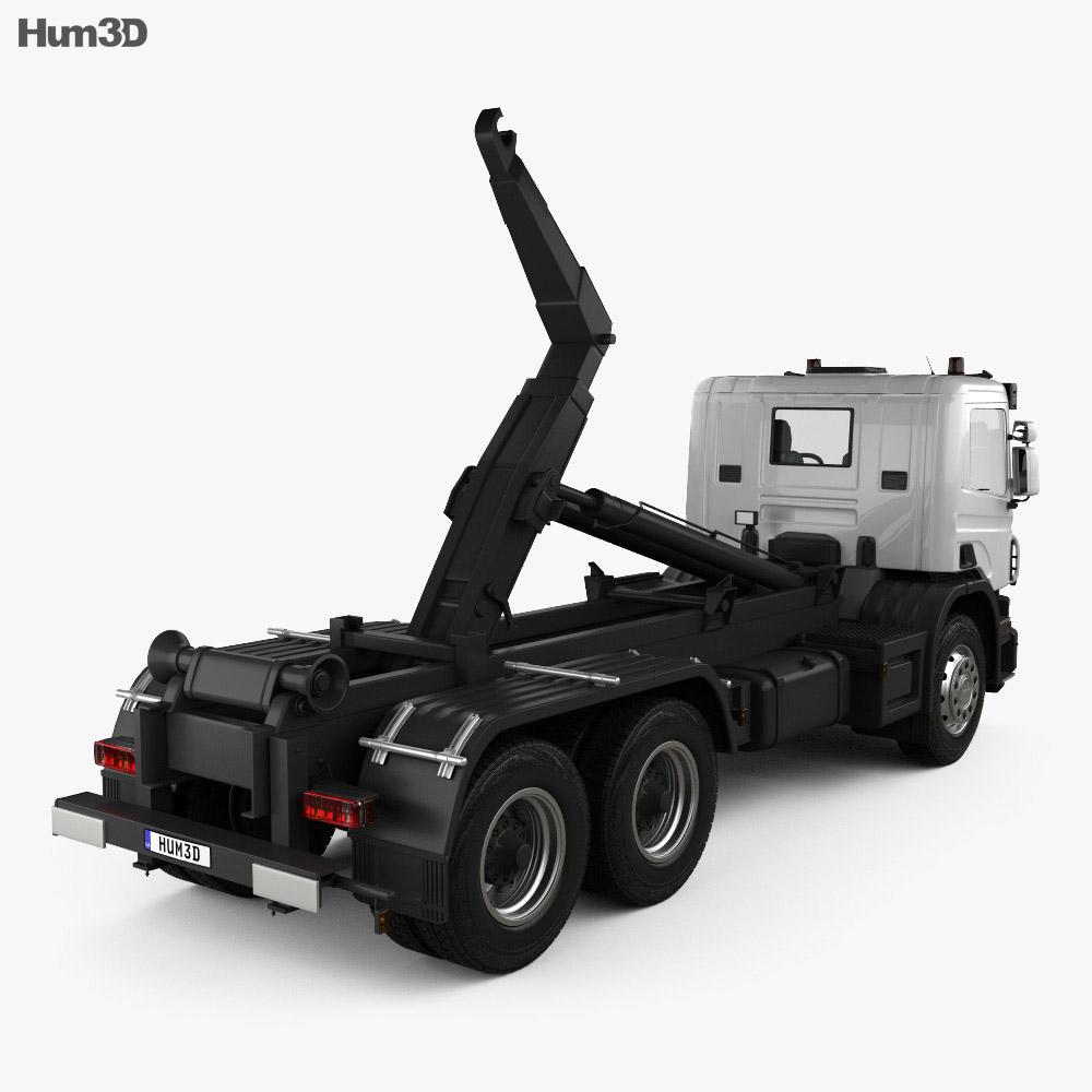 Scania P Hook Loader 2011 3d model