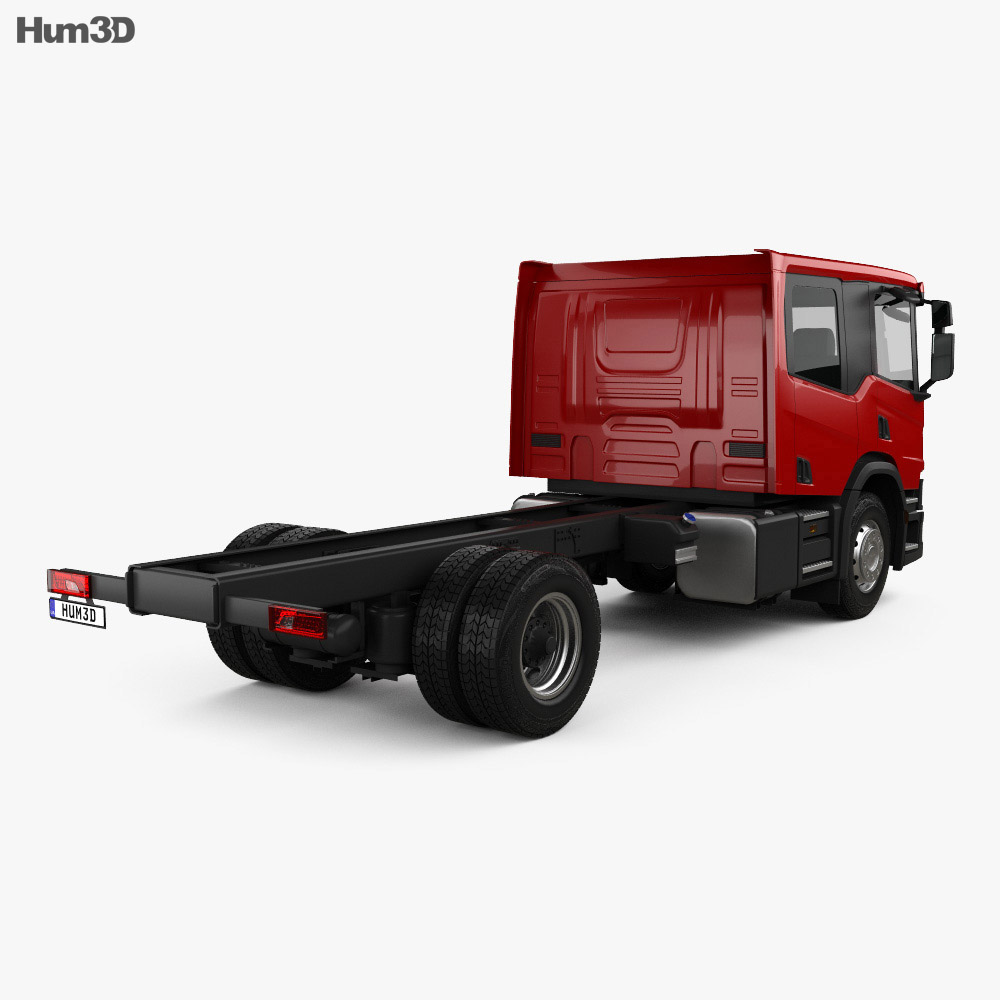 Scania P Crew Cab CP28 Chassis Truck 2017 3d model