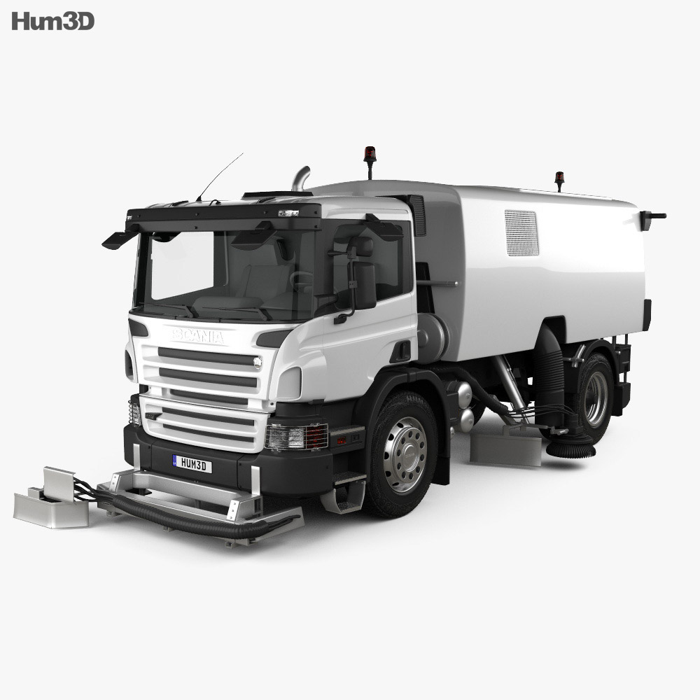 Scania P Road Cleaner 2011 3d model