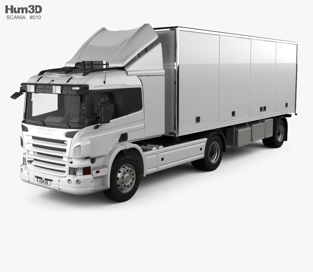 Scania P Tractor Trailer 2011 3d model