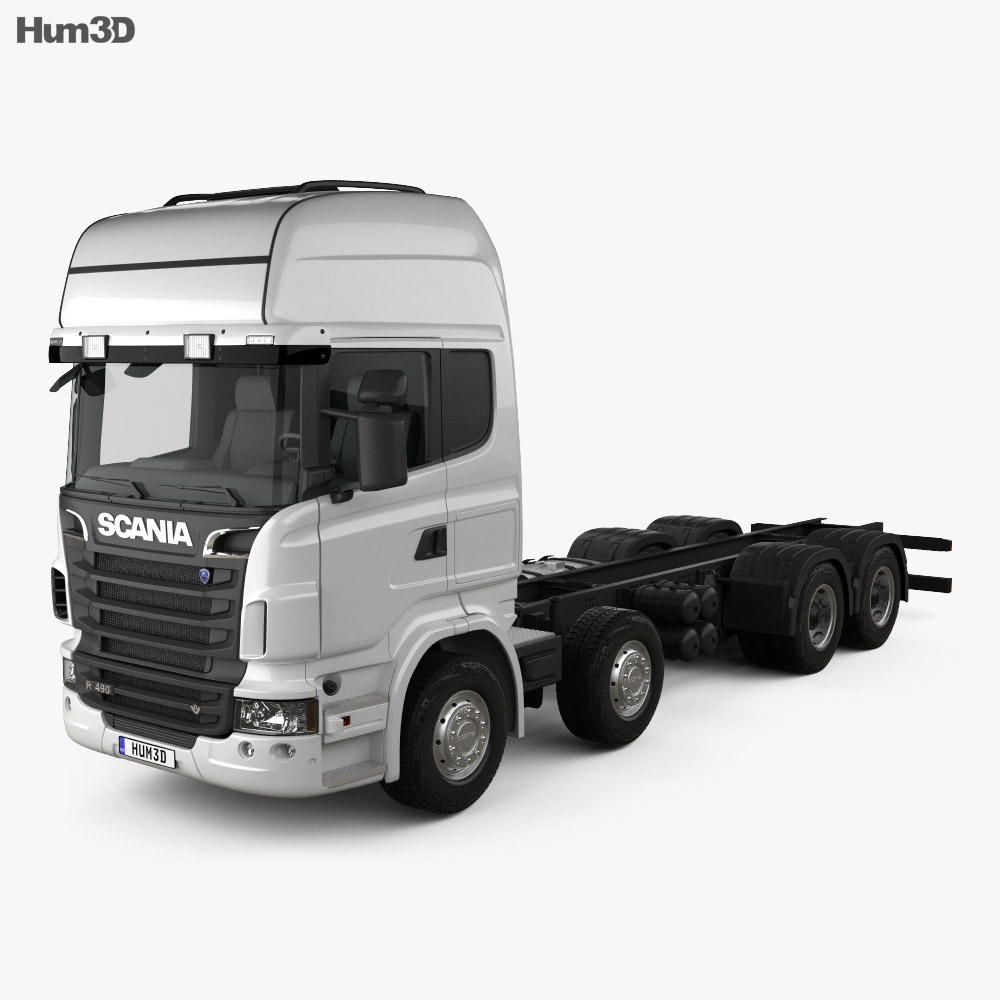 Scania R 490 Chassis Truck 2011 3d model