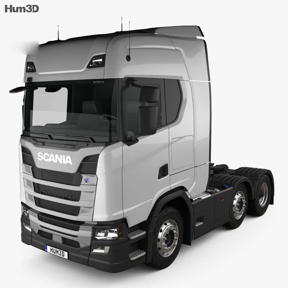 Scania R450 Highline Tractor Truck 3-axle 2017 3d model