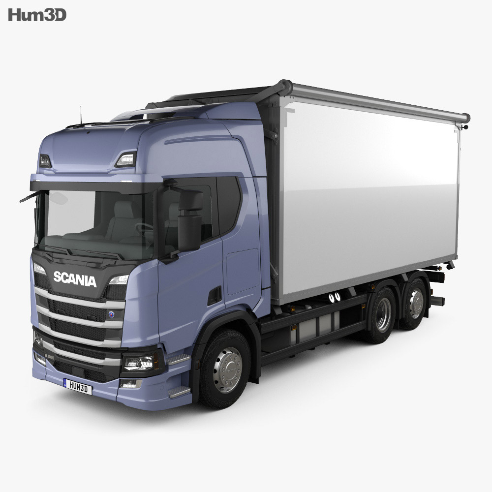 Scania R500 Highline Box Truck 2016 3d model