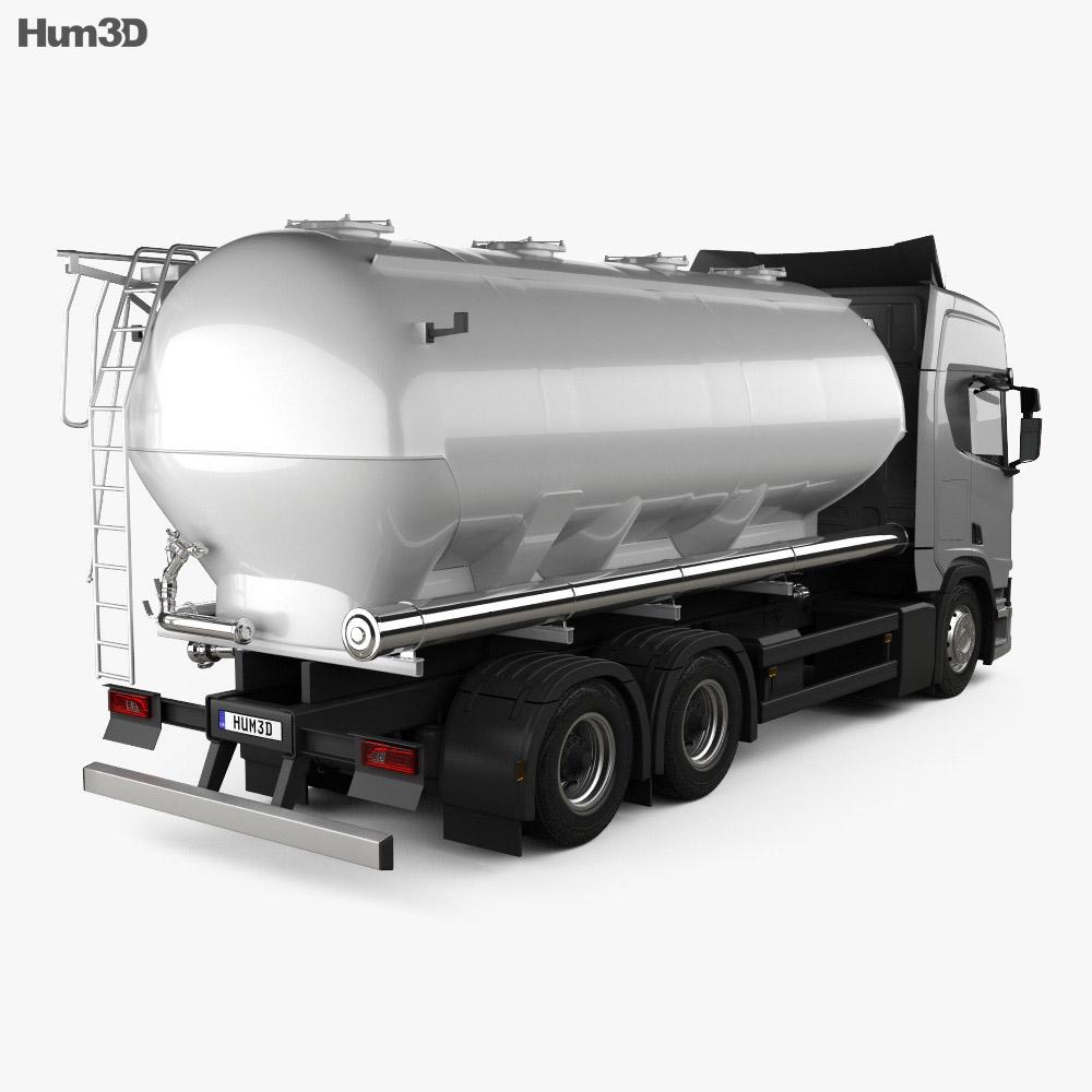 Scania R 730 Tanker Truck 2017 3d model