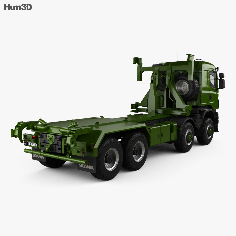 Scania R 480 Military Tractor Truck 2010 3d model