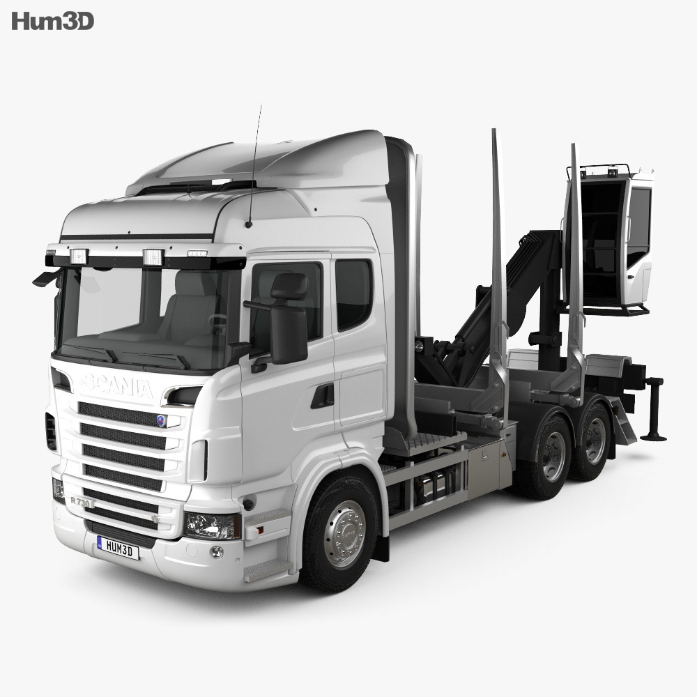 Scania R 730 Timber Truck 2010 3d model