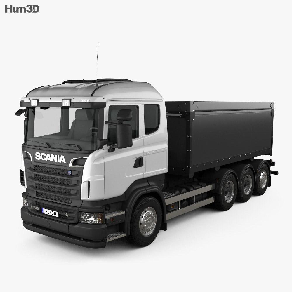 Scania R 730 Tipper Truck 2010 3d model