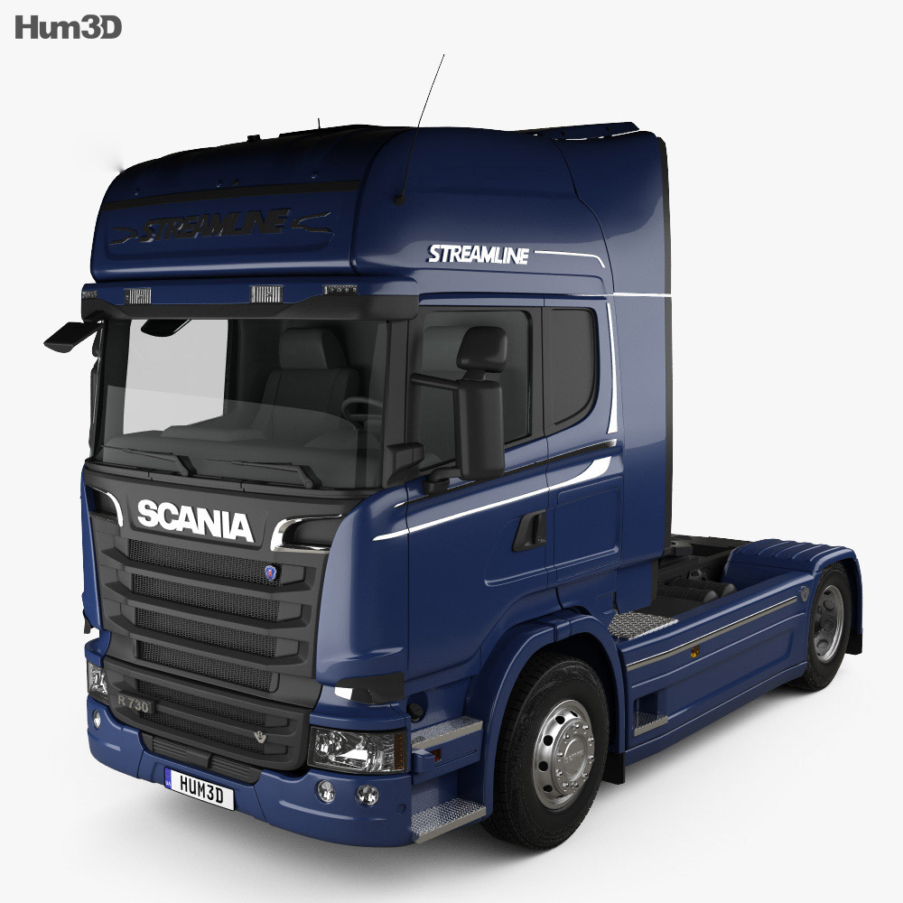 Scania R 730 Tractor Truck 2013 3d model