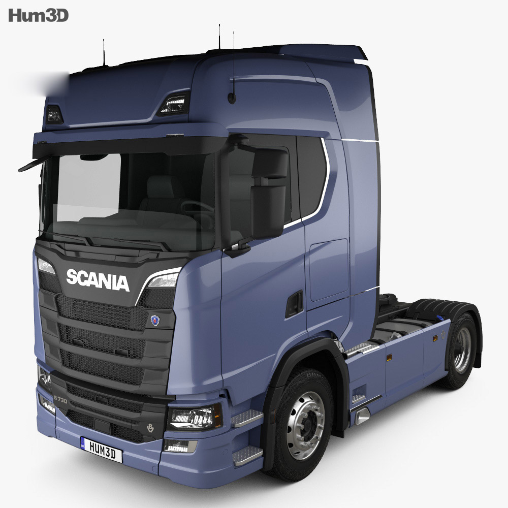 Scania S 730 Highline Tractor Truck 2-axle 2016 3d model