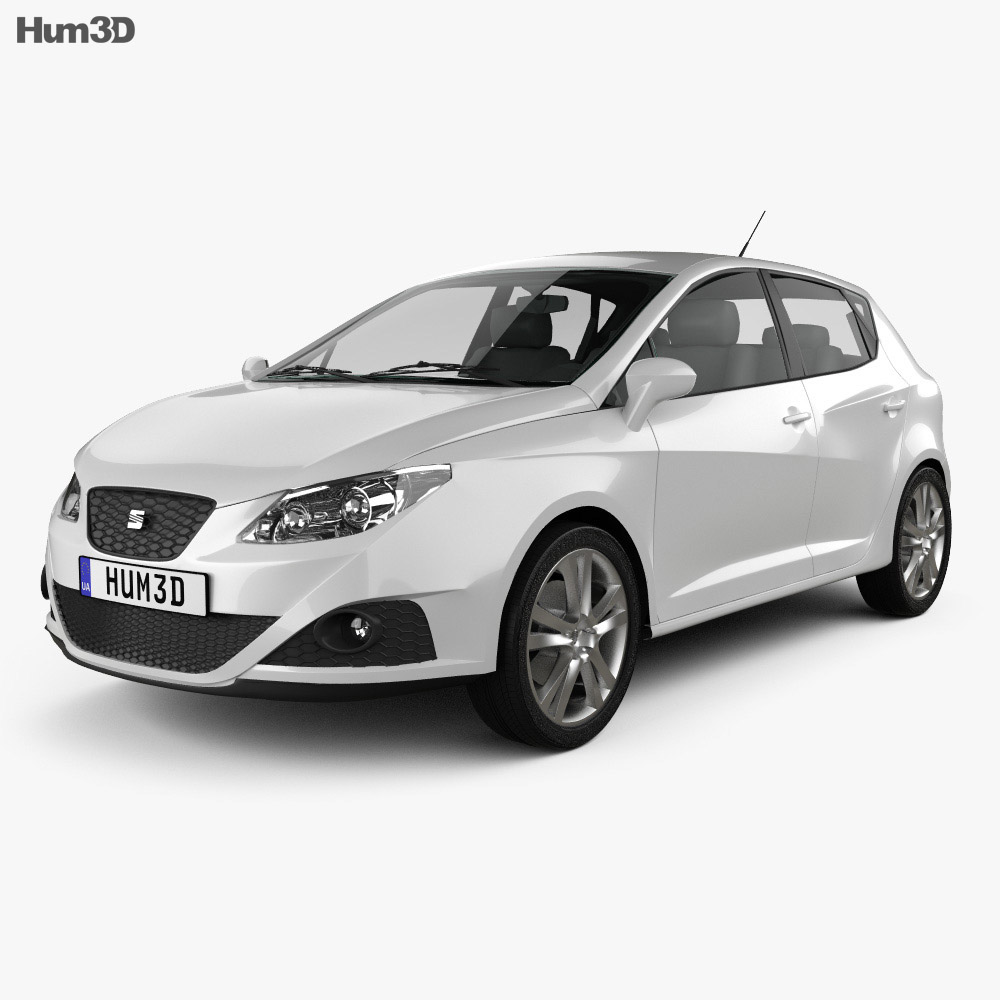 Seat Ibiza hatchback 5-door 2011 3d model