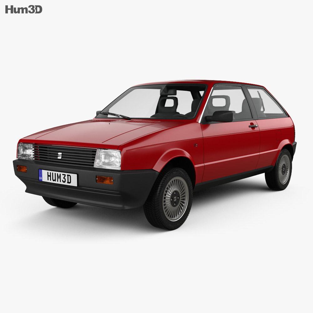 Seat Ibiza 3-door 1984 3d model