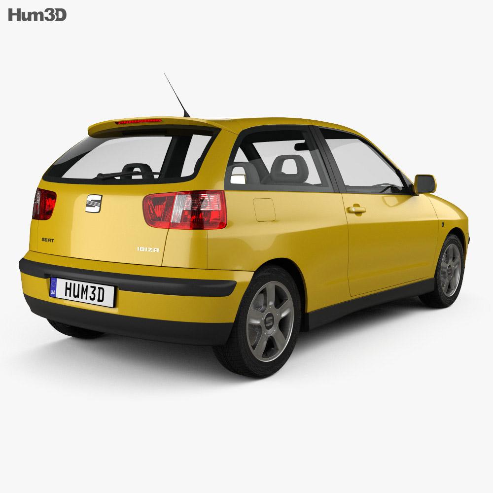 Seat Ibiza 3-door 1999 3d model
