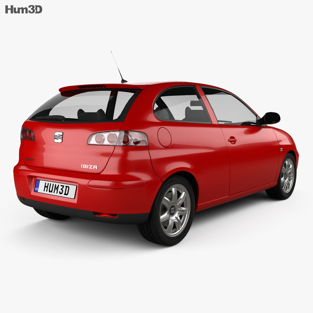 Seat Ibiza 3-door 2002 3d model