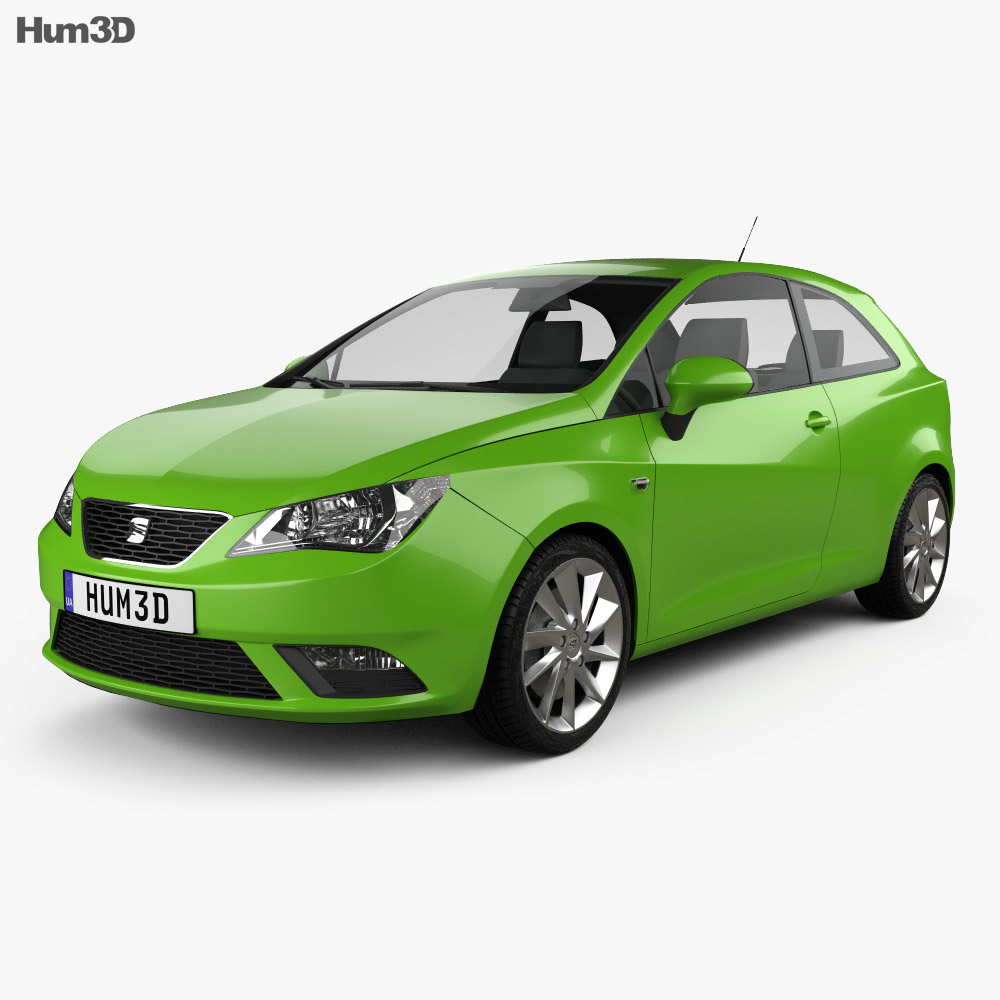 Aktualne Seat Ibiza SC 2013 3D model - Vehicles on Hum3D YS22