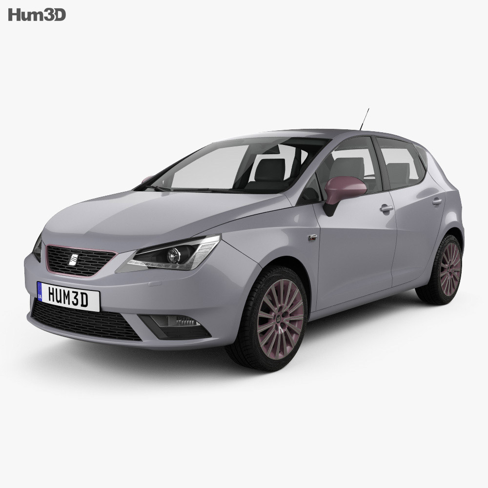 Seat Ibiza 5-door hatchback 2015 3d model