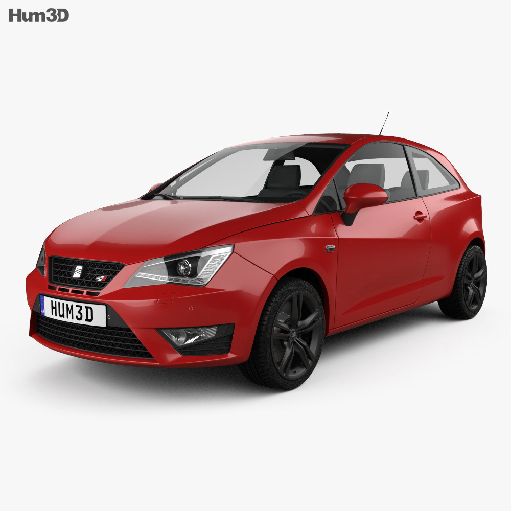 Zaawansowane Seat Ibiza Cupra 2016 3D model - Vehicles on Hum3D TW95