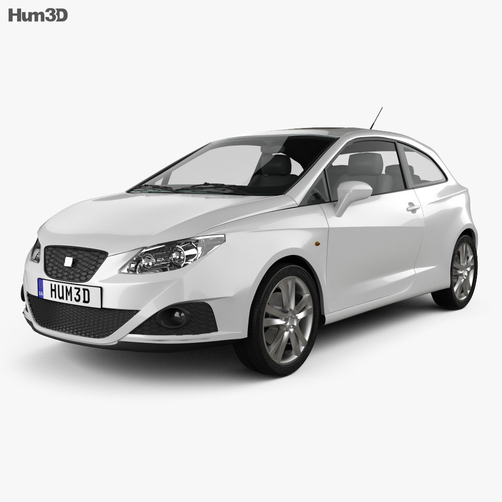 W Ultra Seat Ibiza Sport Coupe 3-door 2011 3D model - Vehicles on Hum3D HT95