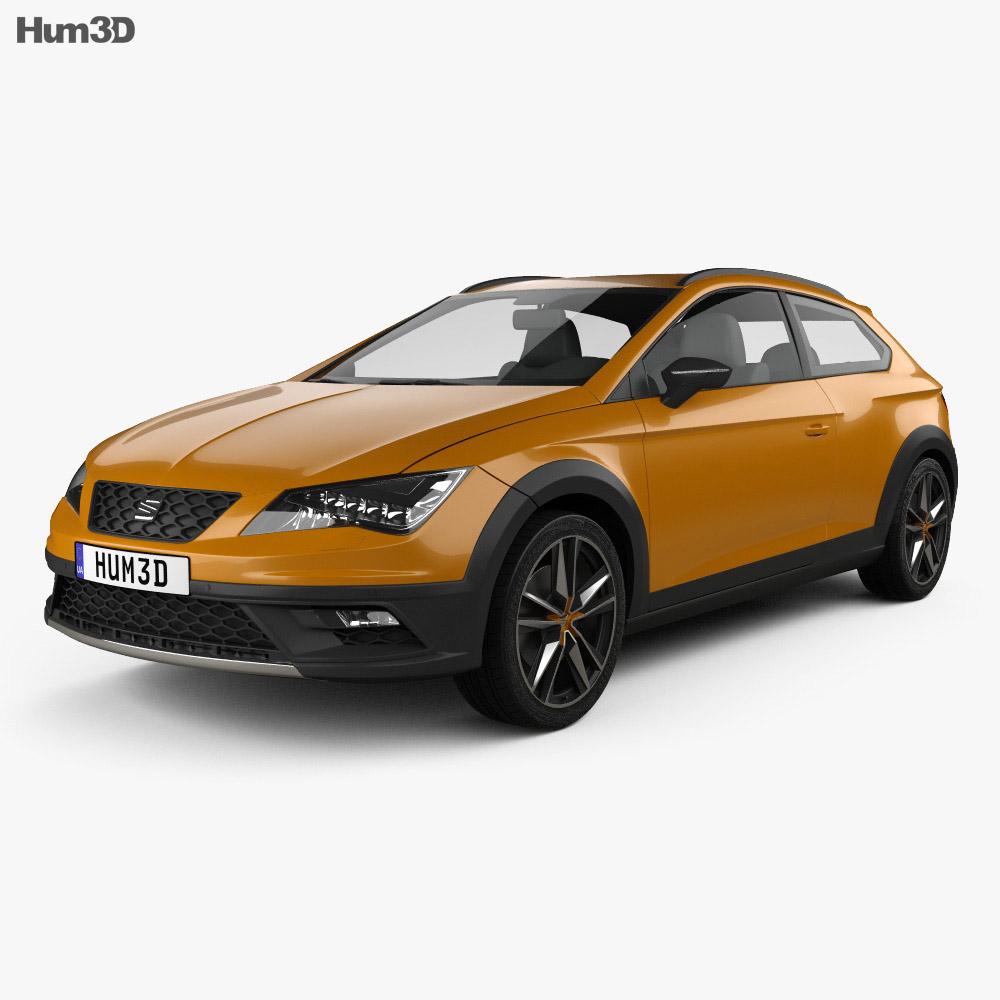 seat leon cross sport 2015 3d model humster3d. Black Bedroom Furniture Sets. Home Design Ideas