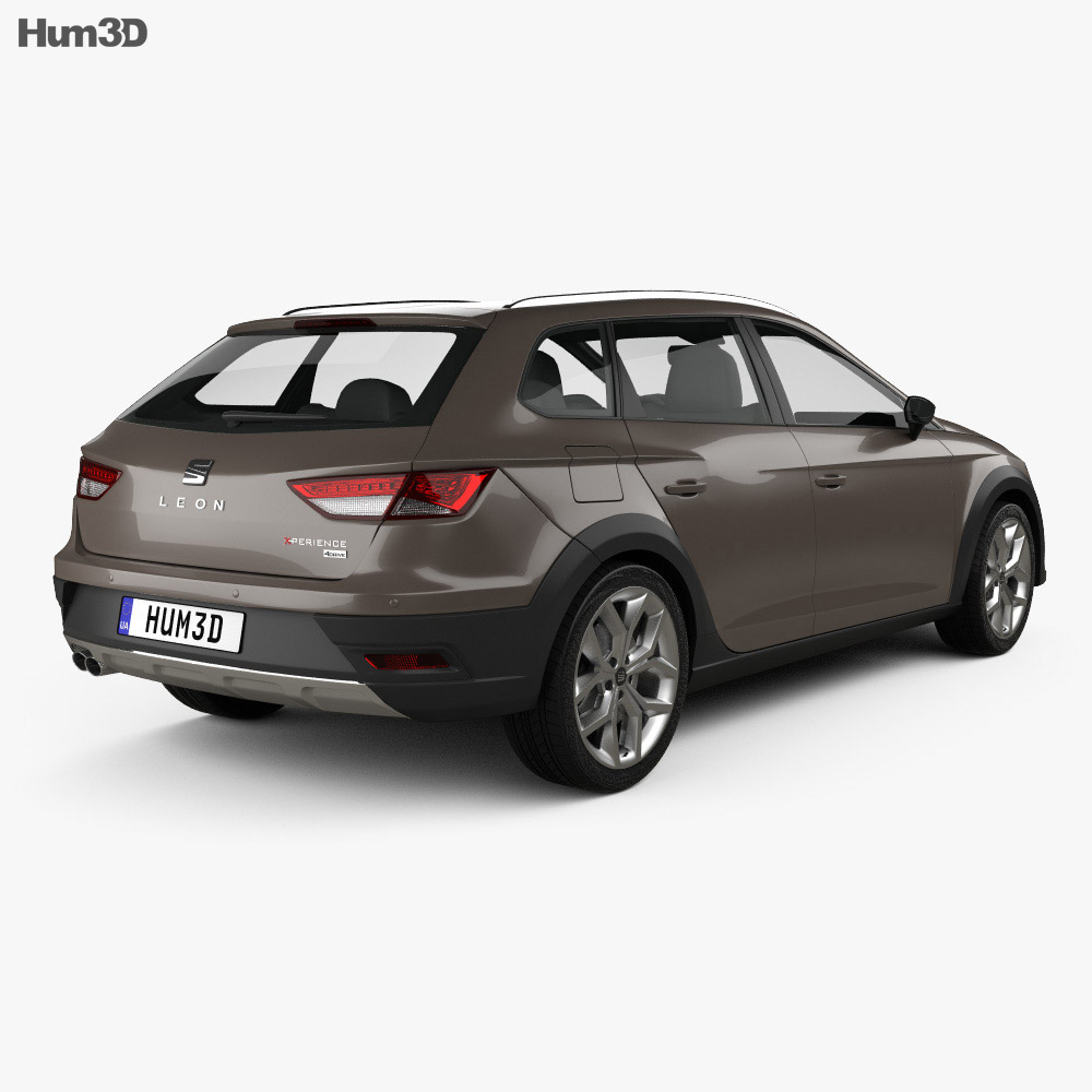 seat leon st x perience 4drive 2015 3d model humster3d. Black Bedroom Furniture Sets. Home Design Ideas