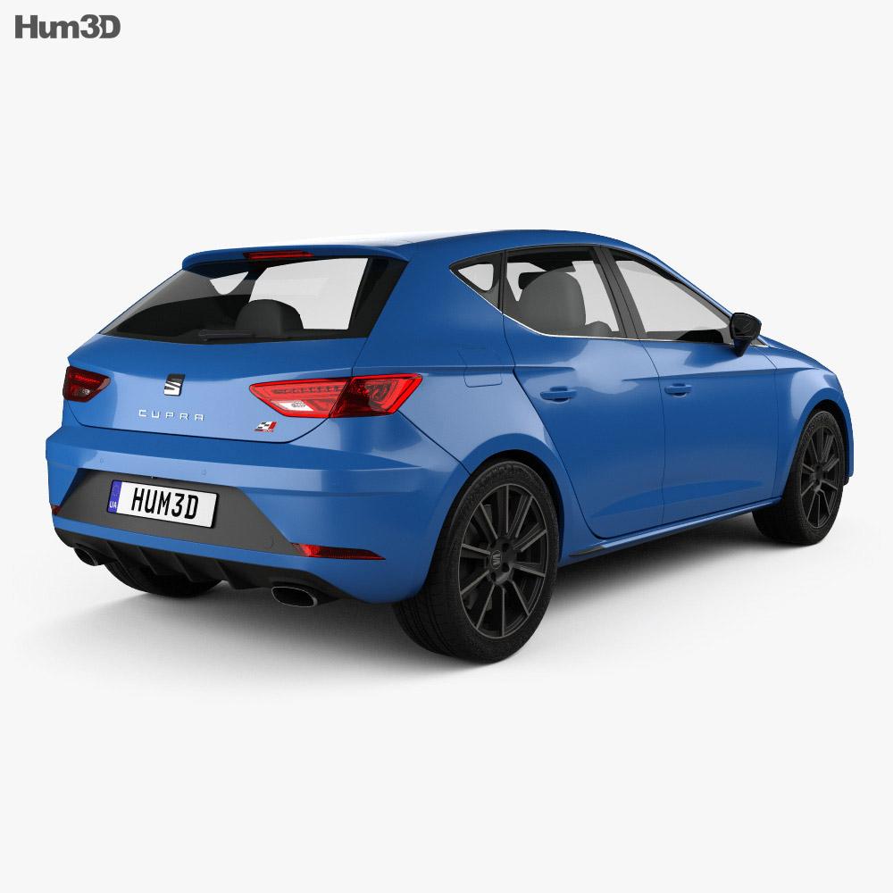 Seat Leon Cupra 300 2017 3d model