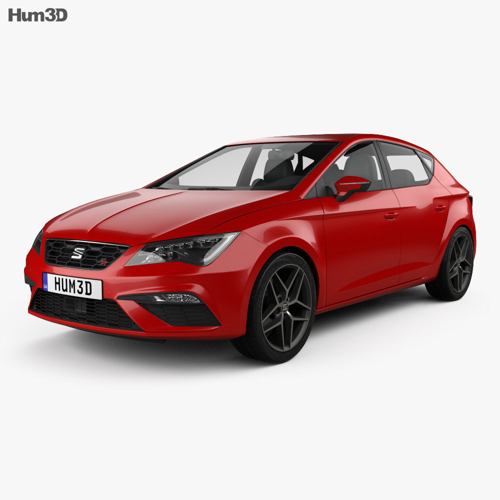 seat leon fr 2016 3d model hum3d. Black Bedroom Furniture Sets. Home Design Ideas