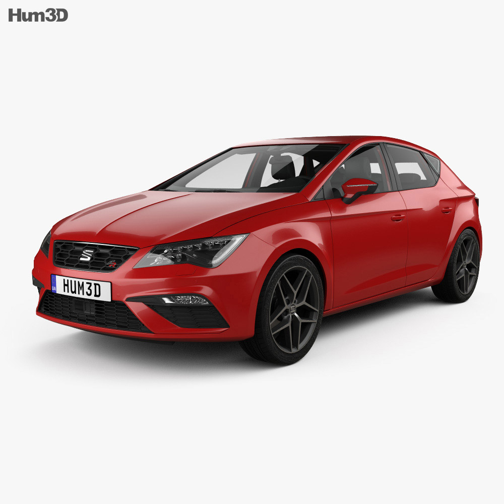Seat Leon FR with HQ interior 2016 3d model