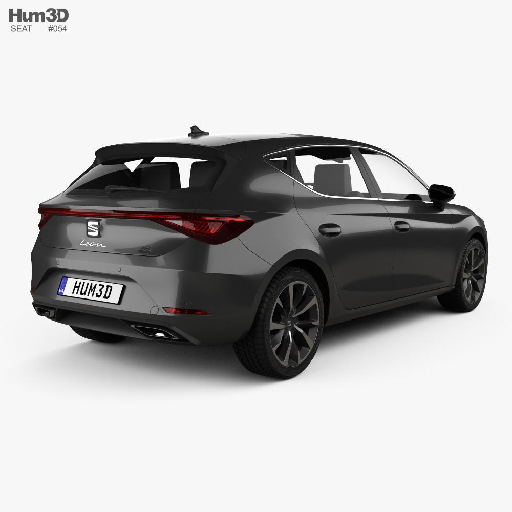 Seat Leon FR eHybrid 5-door hatchback 2020 3d model back view