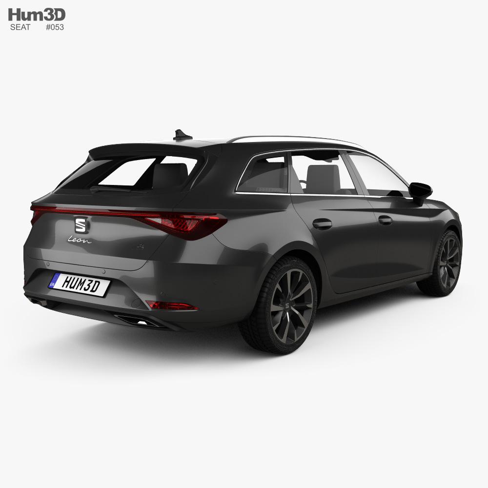 Seat Leon FR eHybrid sportstourer 2020 3d model