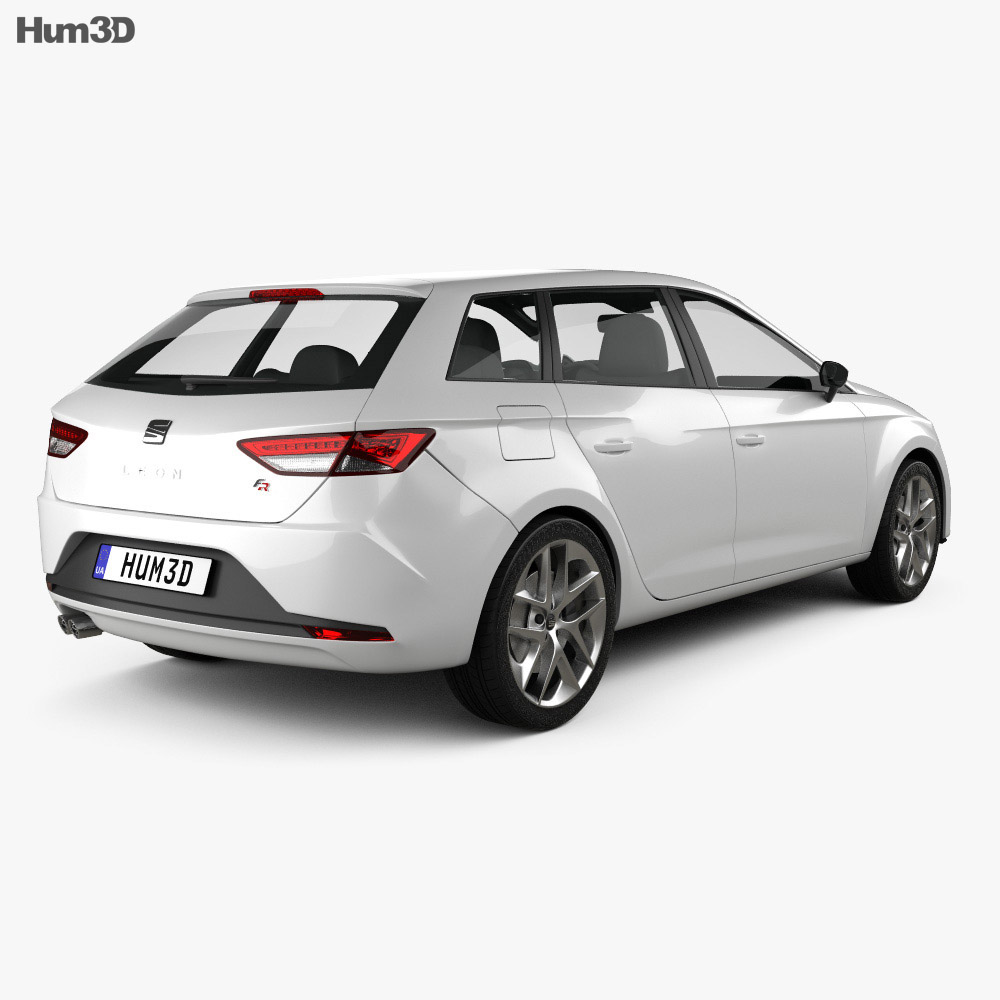 Seat Leon wagon 2013 3d model