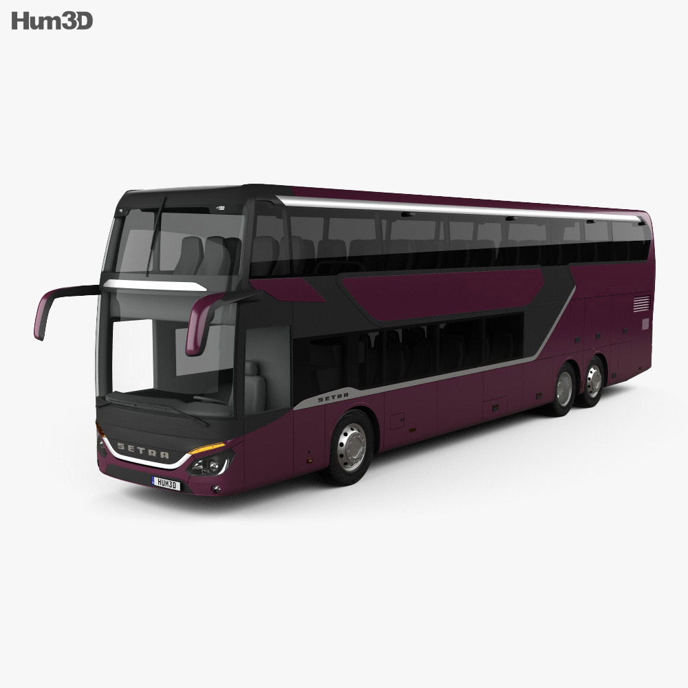 3D model of Setra S 531 DT Bus 2018