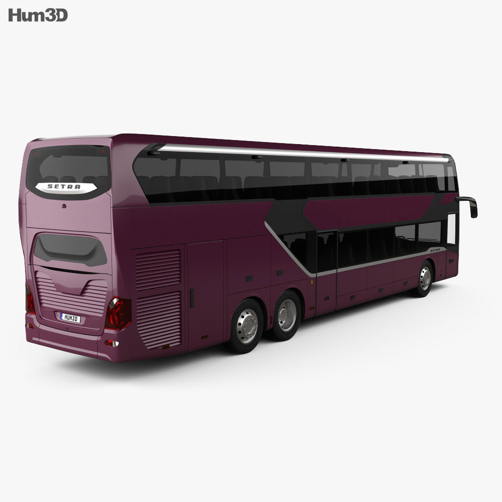 Setra S 531 DT Bus 2018 3d model