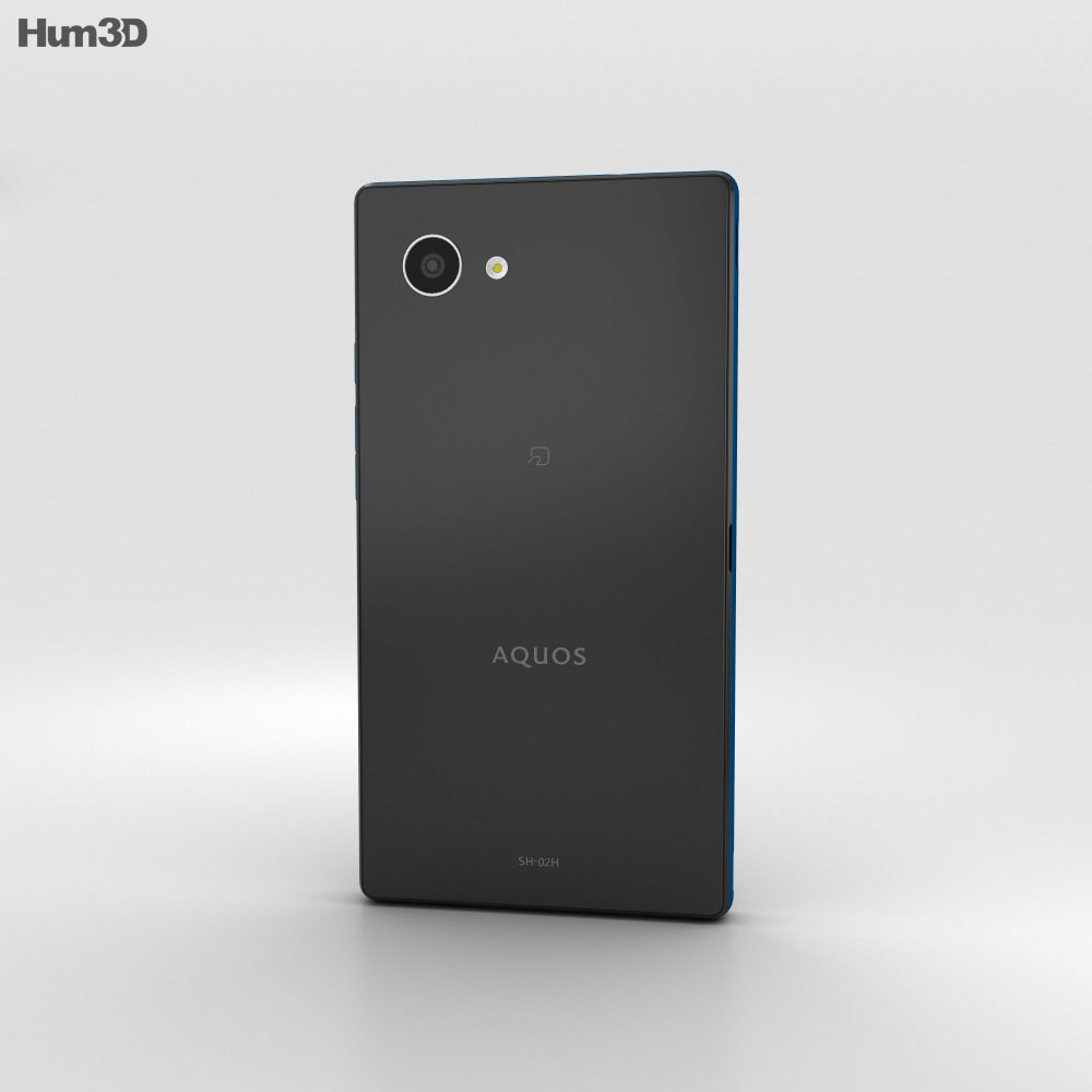Sharp Aquos Compact SH-02H Blue/Black 3d model
