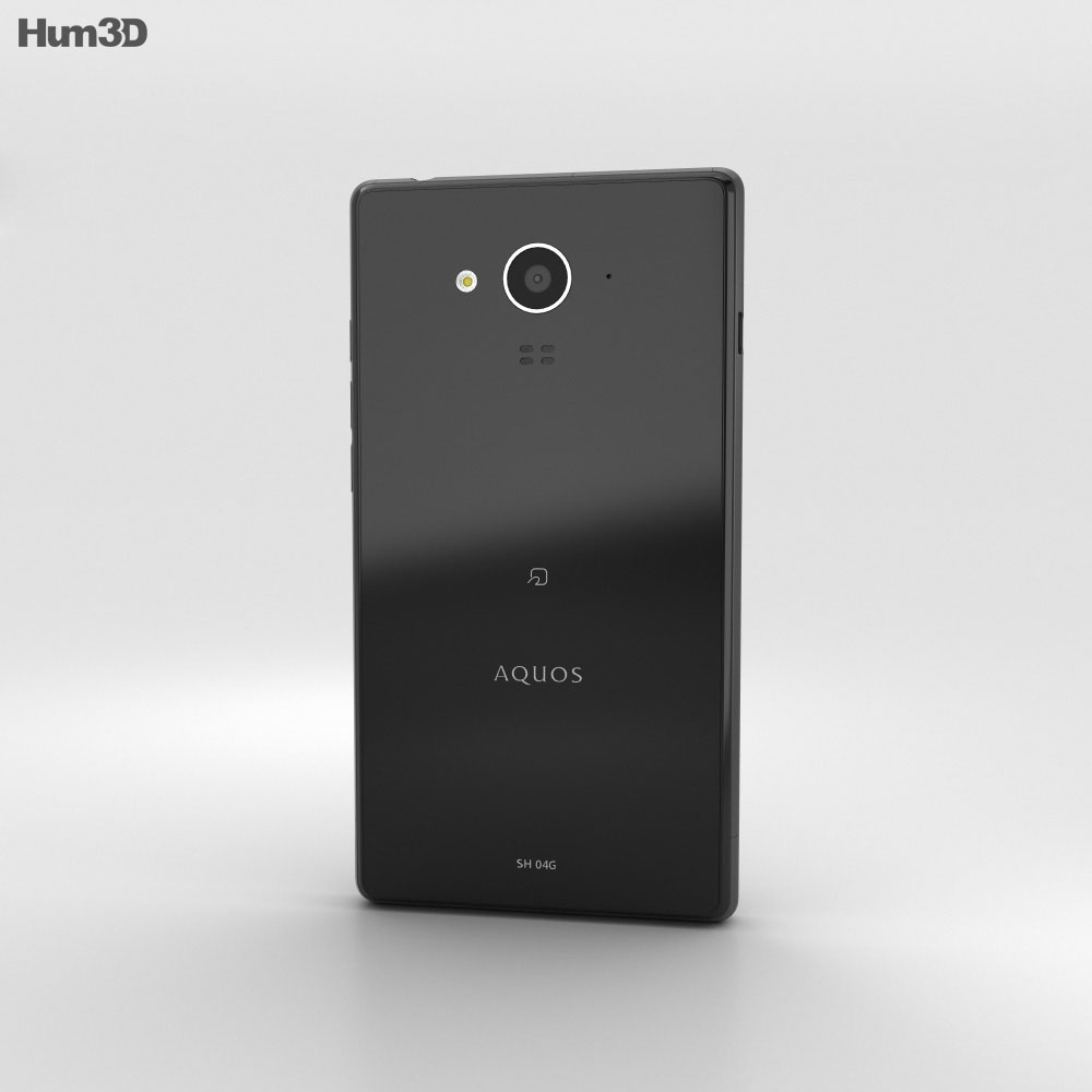 Sharp Aquos Ever SH-04G Black 3d model