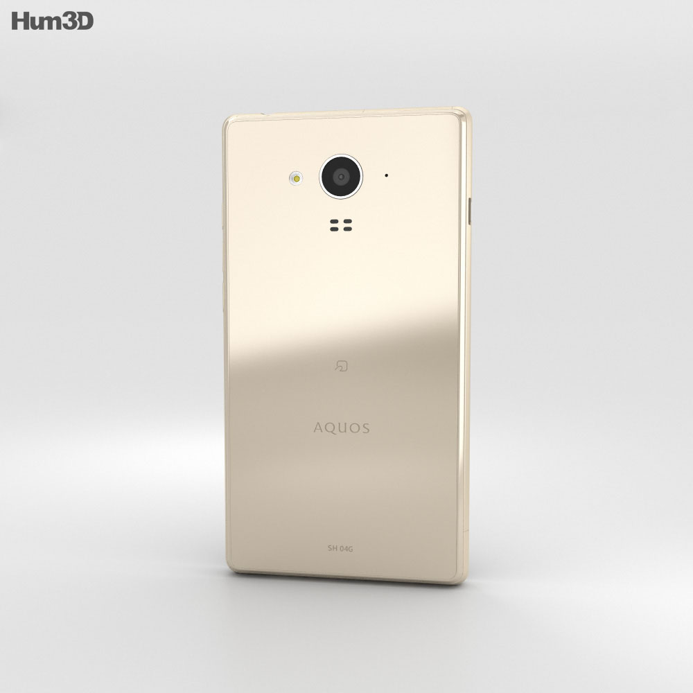 Sharp Aquos Ever SH-04G Gold 3d model