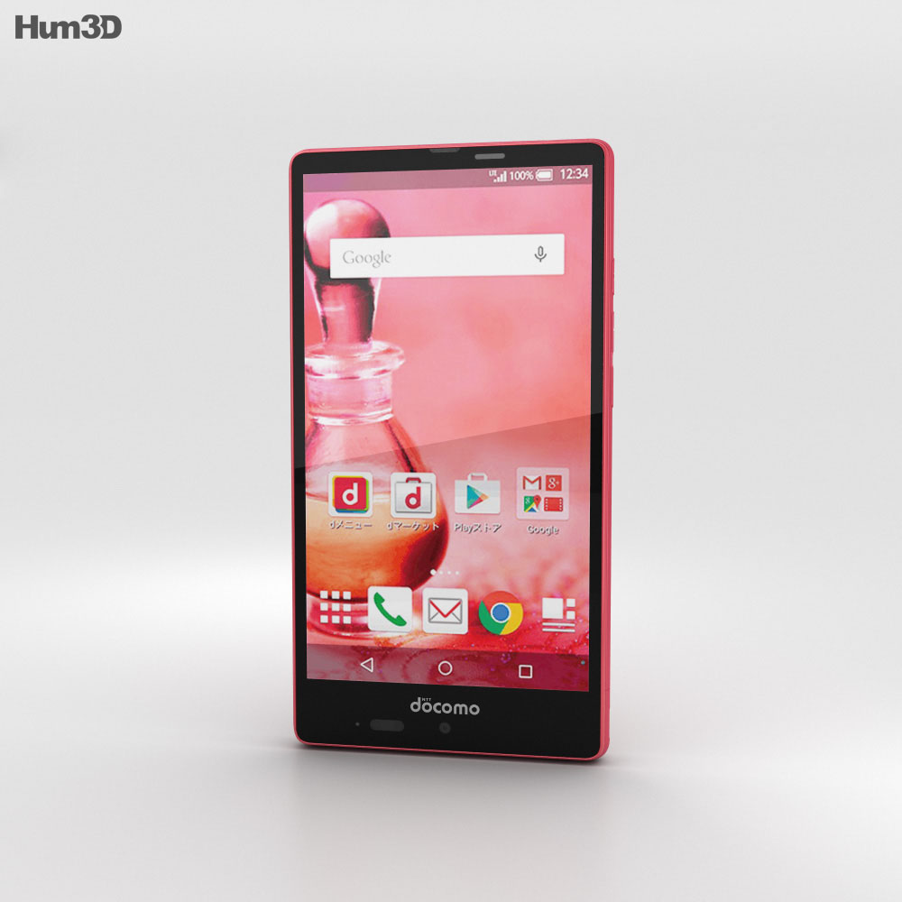 Sharp Aquos Ever SH-04G Pink 3d model