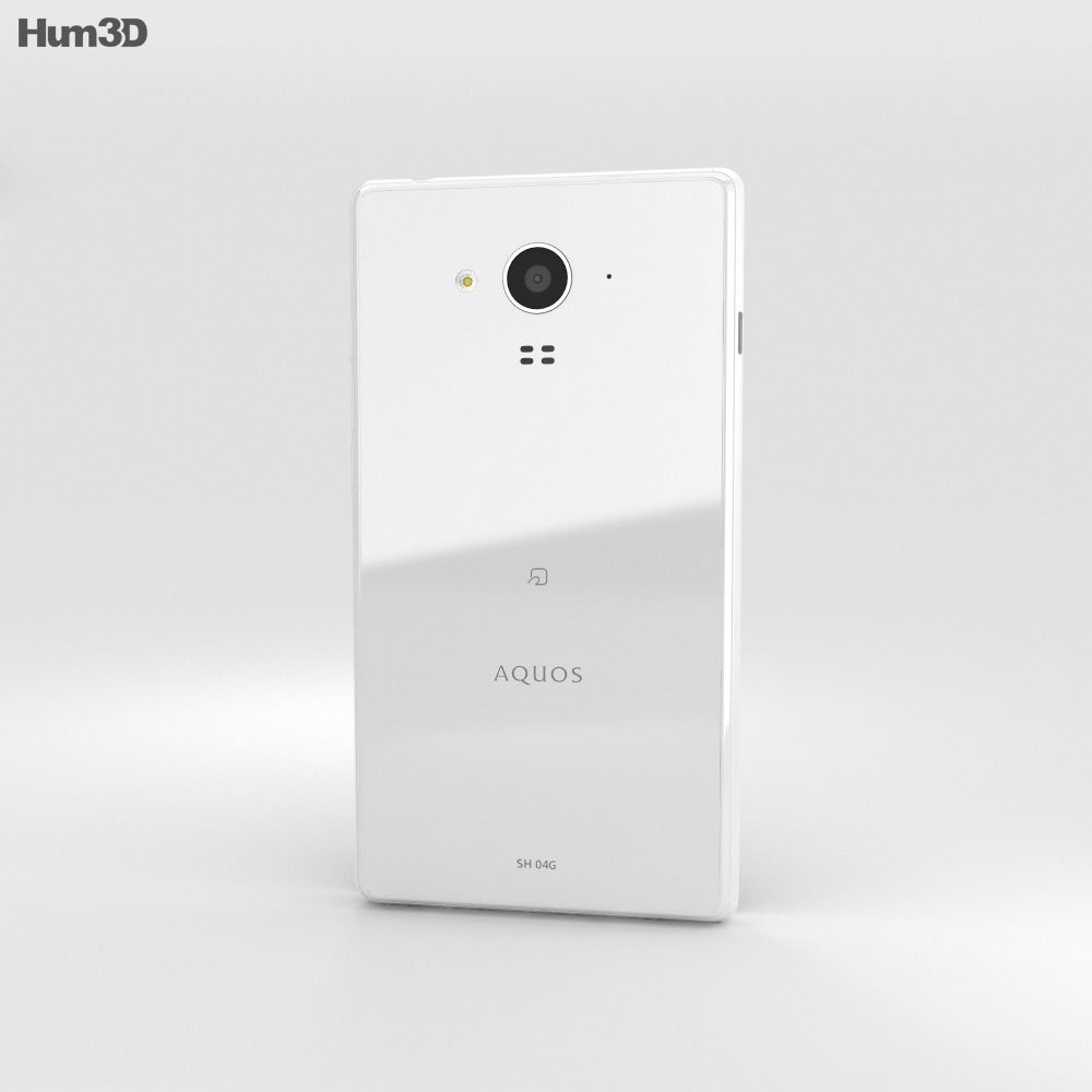 Sharp Aquos Ever SH-04G White 3d model