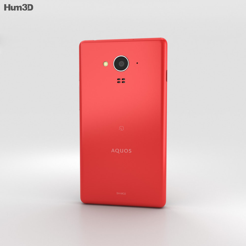 Sharp Aquos SH-M02 Red 3d model