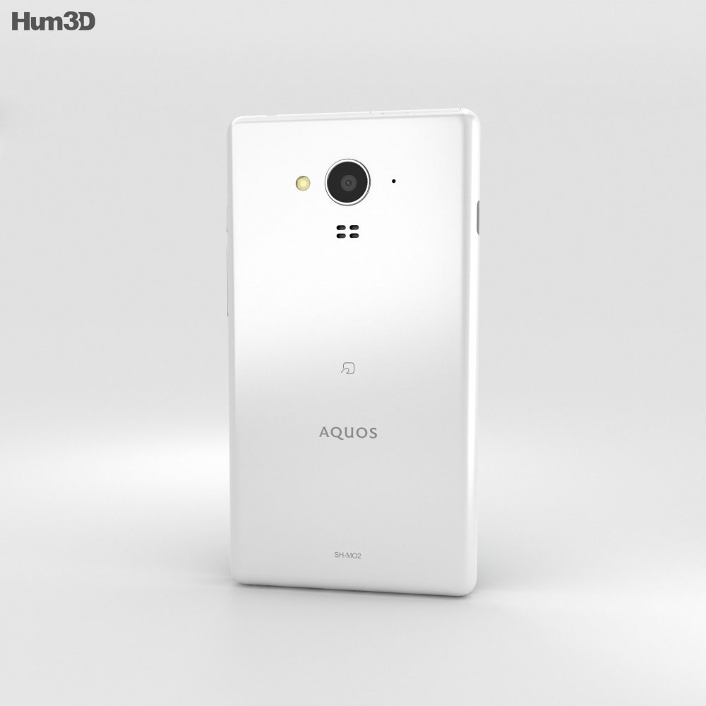 Sharp Aquos SH-M02 White 3d model