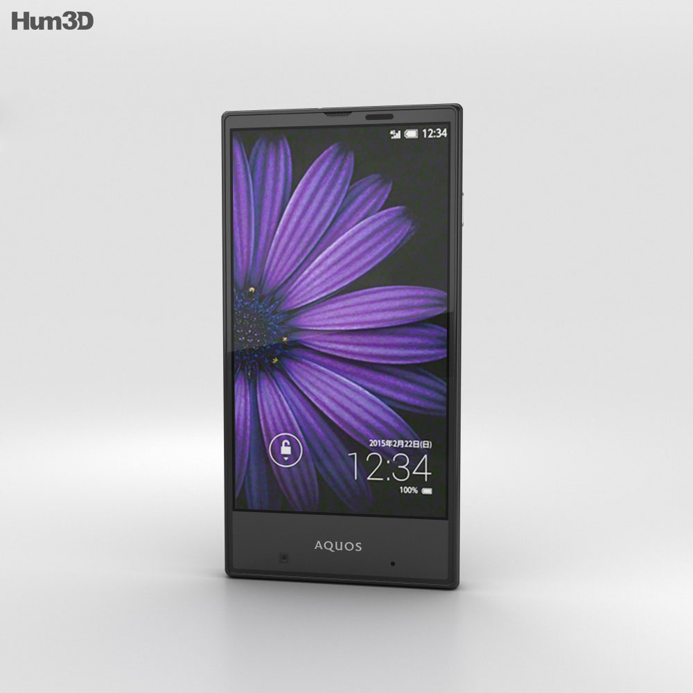 Sharp Aquos Serie mini SHV31 Black 3d model