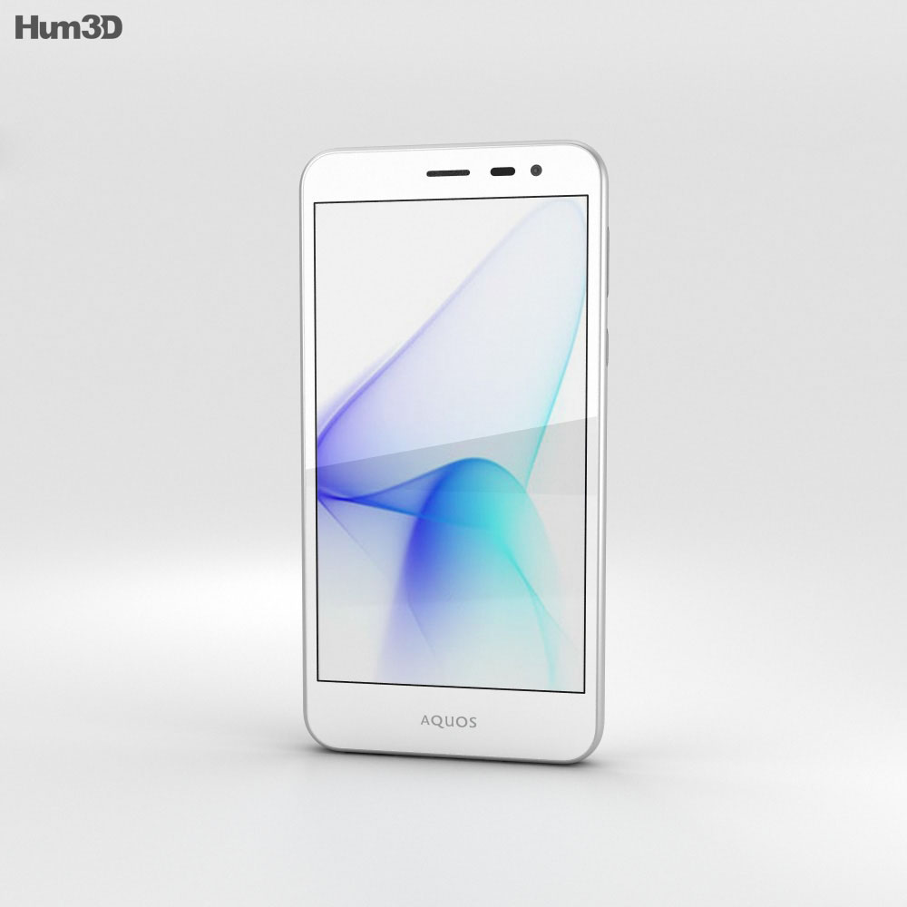 Sharp Aquos U SHV35 White 3d model