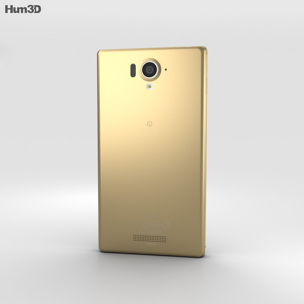 Sharp Aquos Xx 304SH Gold 3d model