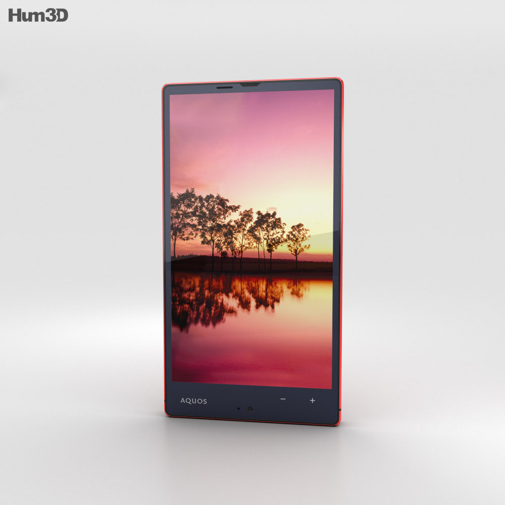 Sharp Aquos Xx 304SH Red 3d model