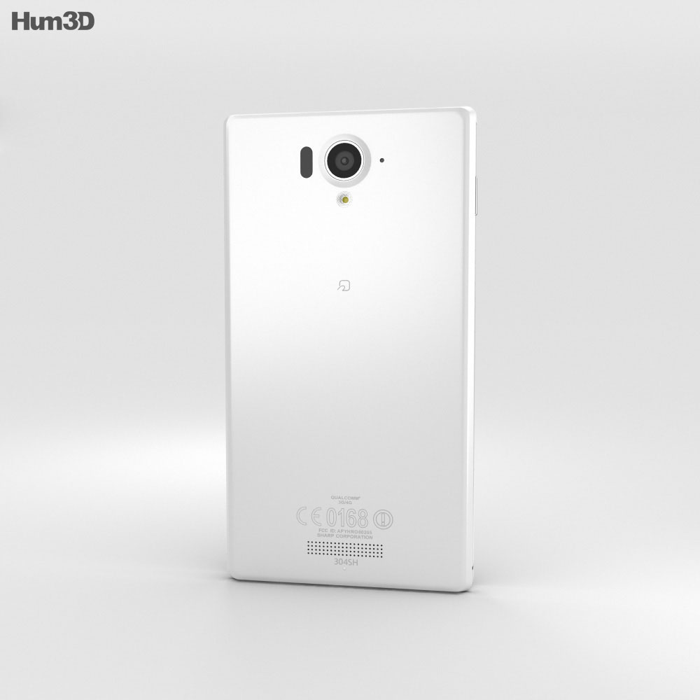 Sharp Aquos Xx 304SH White 3d model